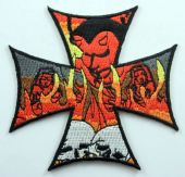 Flaming Cross - Embroidered Patch
